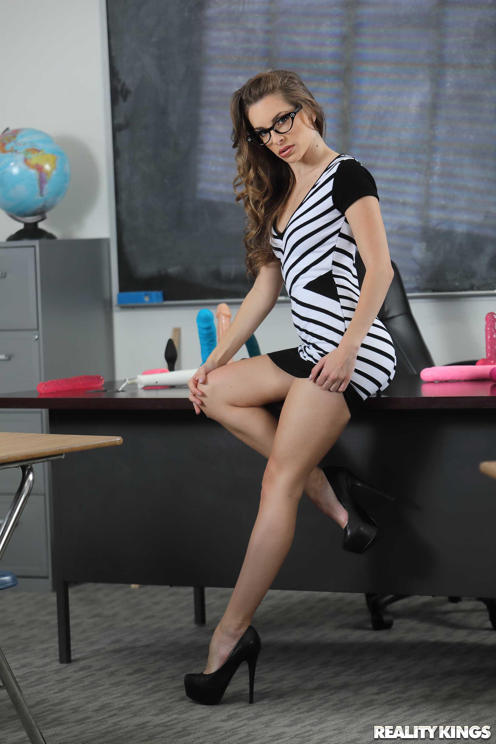 Reality Kings 'Slutty Sex Ed Teachers' starring Adriana Chechik (Photo 1)