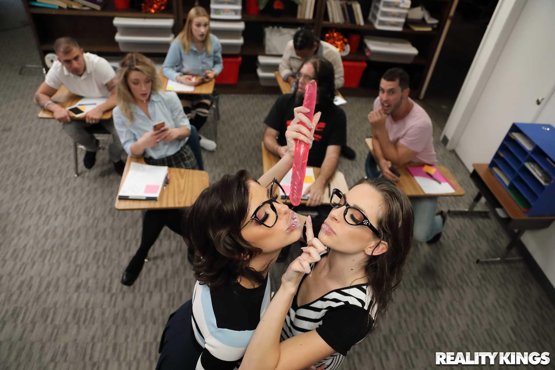 Reality Kings 'Slutty Sex Ed Teachers' starring Adriana Chechik (Photo 104)