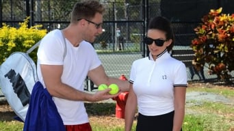 India Summer in 'Topless tennis'