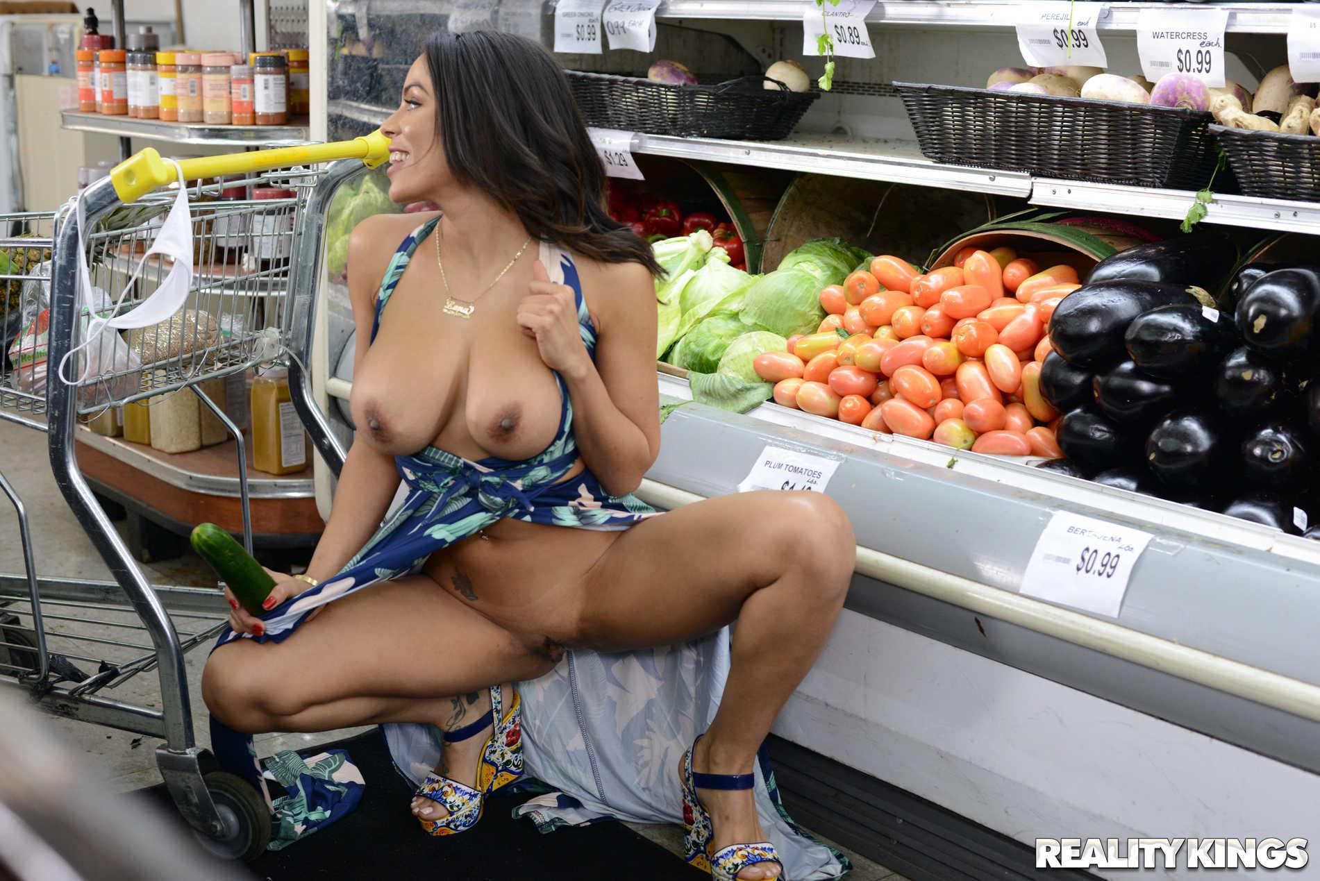 Milf cockteasing in grocery store, sex videos of tamil girls